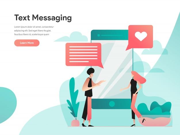 Bannière web de messagerie texte