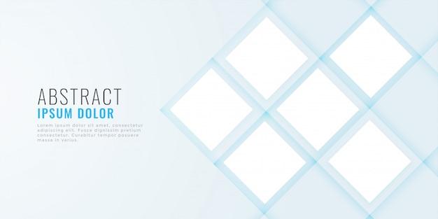 Bannière web minimale propre avec espace image
