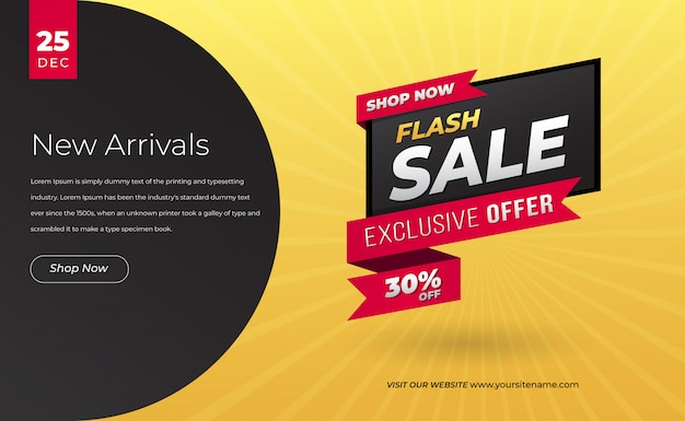 Bannière web moderne de vente