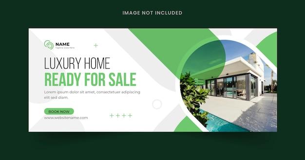 Bannière web modifiable de maison à vendre