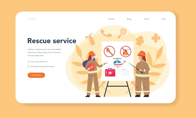 Bannière web ou page de destination de l'aide du sauveteur d'urgence