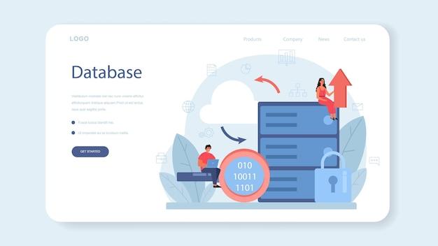 Bannière web ou page de destination d'analyse de données volumineuses d'entreprise