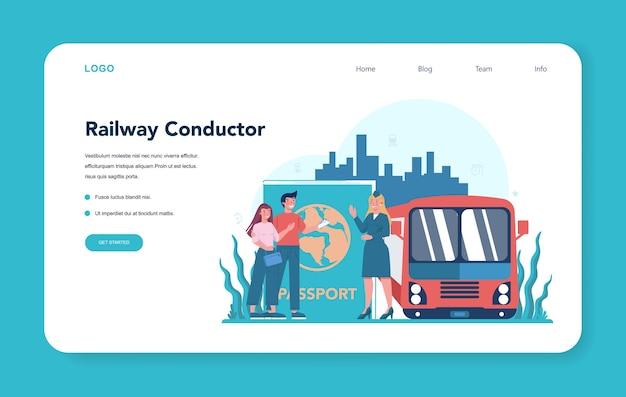 Bannière web ou page de destination du chef de train