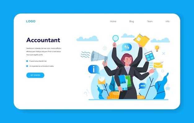 Bannière web ou page de destination du comptable