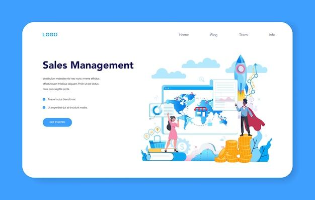 Bannière web ou page de destination du concept de directeur commercial ou directeur commercial
