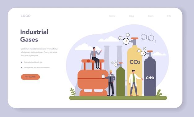Bannière web ou page de destination de l'industrie chimique