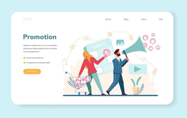 Bannière web ou page de destination de la promotion de l'entreprise