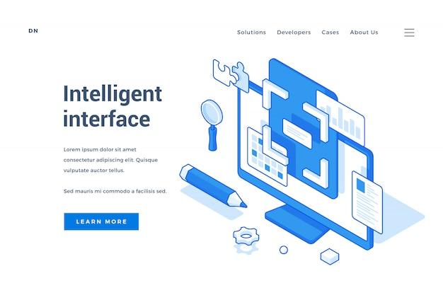 Bannière web pour publicité d'interface intelligente contemporaine