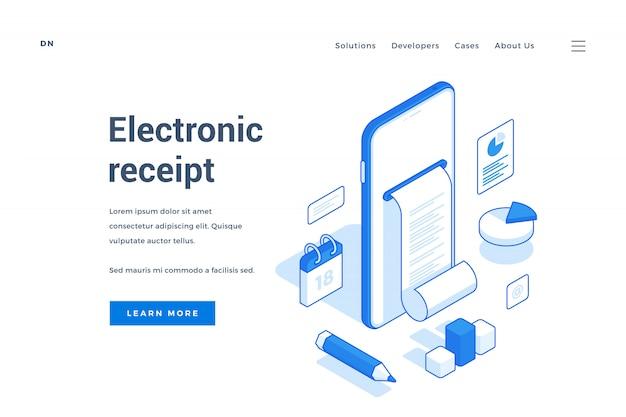 Bannière web pour un service de commerce électronique contemporain