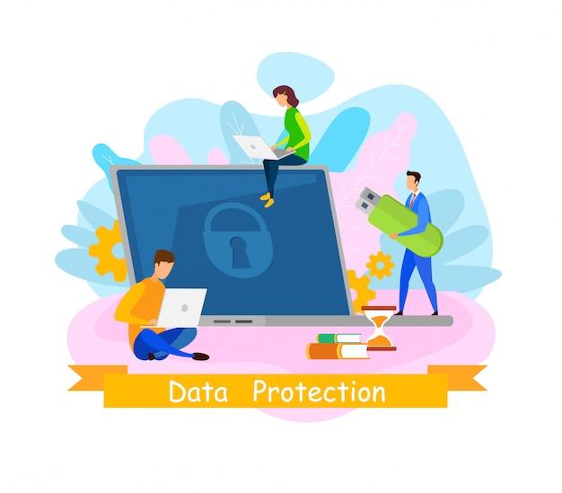 Bannière web sur la protection des données