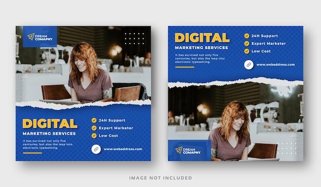 Bannière web de publication de médias sociaux d'entreprise