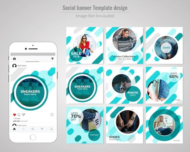 Bannière web sociale de vente de mode