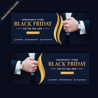 Bannière web de vente de luxe black friday
