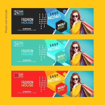 Bannière web de vente de mode moderne