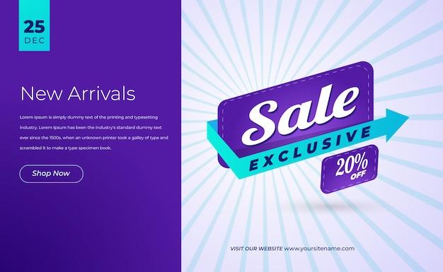 Bannière web de vente moderne