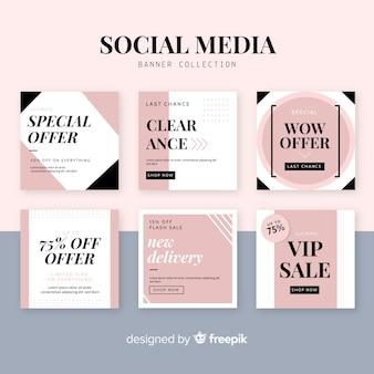 Bannière web de vente pour les médias sociaux