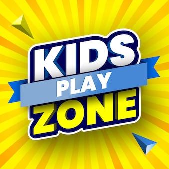 Bannière de zone de jeu pour enfants
