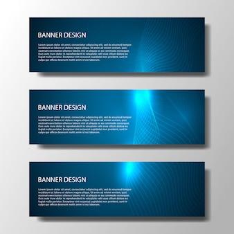 Bannières abstract vector