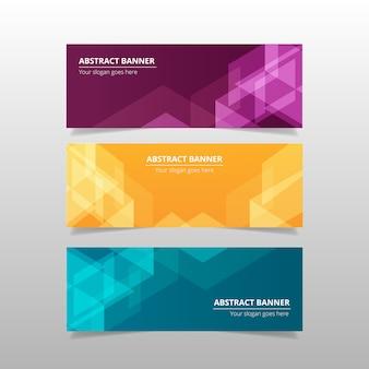 Bannières abstraites colorées