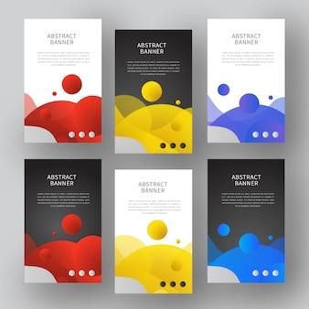 Bannières abstraites de couleur liquide