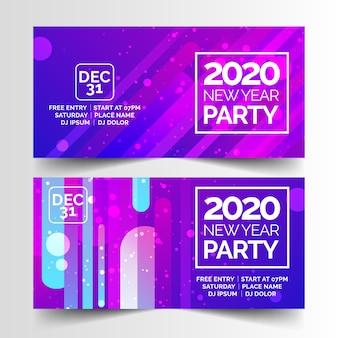 Bannières abstraites fête de nouvel an