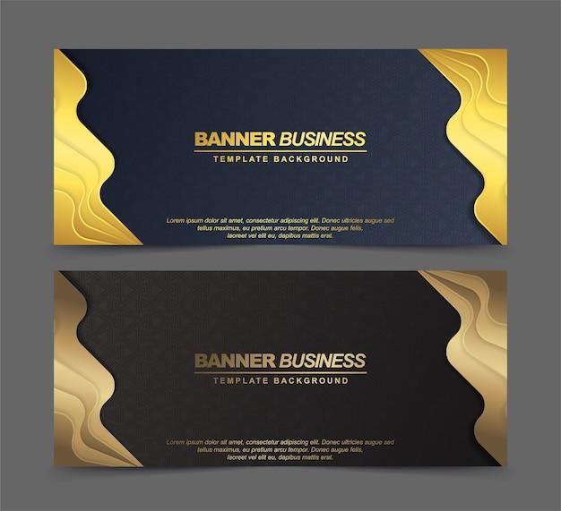 Bannières abstraites de luxe en or