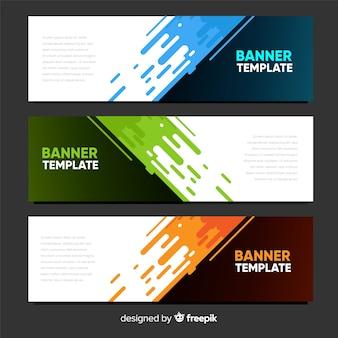 Bannières abstraites modernes au design plat