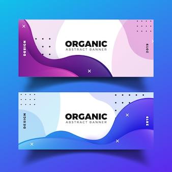 Bannières abstraites organiques