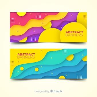 Bannières abstraites