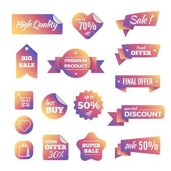 Bannières d'achat à prix réduits