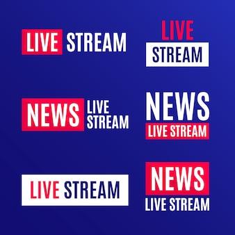 Bannières d'actualités en direct