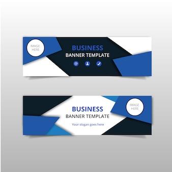 Bannières d'affaires bleues élégantes