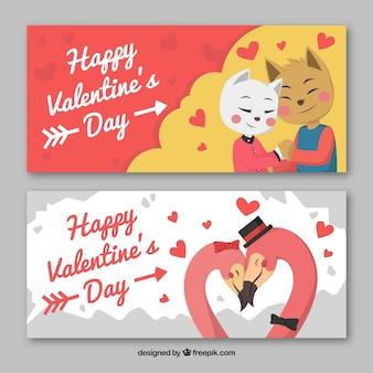 Bannières d'amour valentine