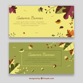 Bannières d'automne élégantes