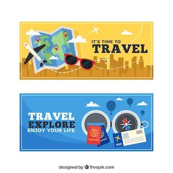 Bannières des aventures de voyageur