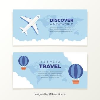 Bannières d'avion et des ballons