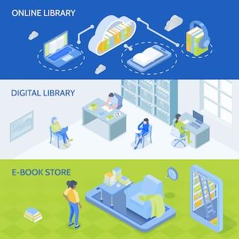 Bannières de bibliothèque en ligne