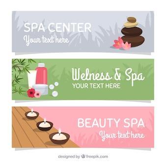 Bannières bien-être et spa