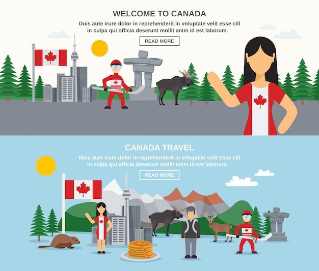 Bannières bienvenue au canada