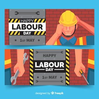 Bannières de bonne fête du travail