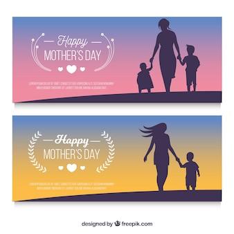 Bannières de bonne fête des mères