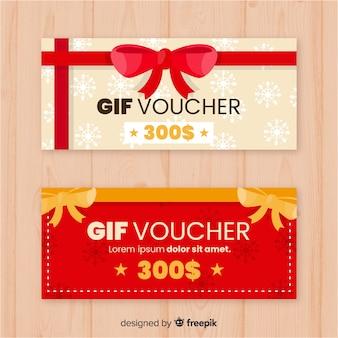 Bannières de bons cadeaux décoratifs