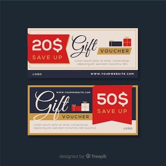 Bannières de bons cadeaux modernes