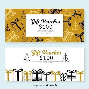 Bannières de bons cadeaux