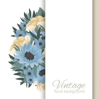Bannières botaniques vintage de vecteur avec fleur