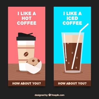 Bannières café délicieux avec un message