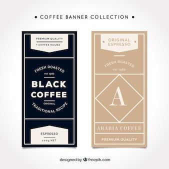Bannières café élégant