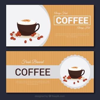 Bannières cappuccino vintage