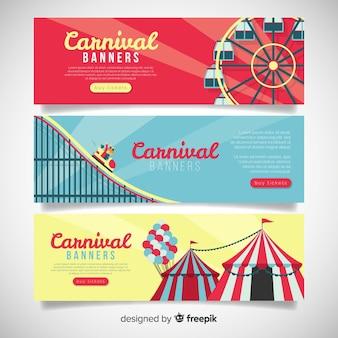 Bannières de carnaval plat