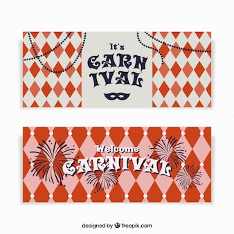 Bannières de carnaval vintage